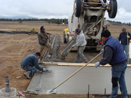 Pouring Slab Cement